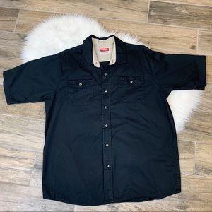 Wrangler Western Cowboy Button Down Shirt Size XL